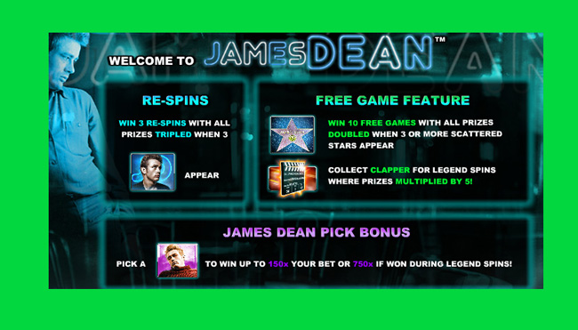 James Dean Free Pokies Slot Game Review