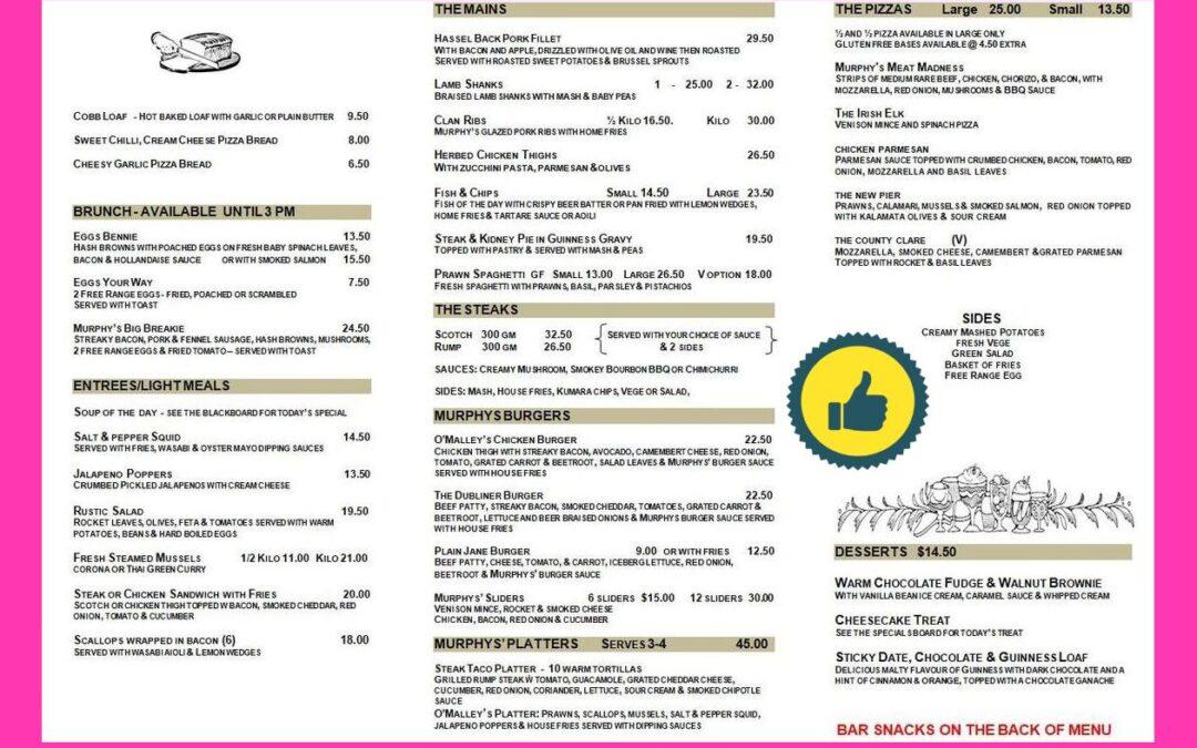 Murphy's Law Irish Bar Drury Review