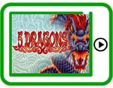 5 Dragons free pokies